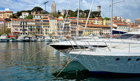 Cannes - View of Le Suquet Stock Photos
