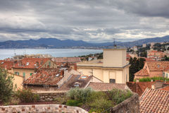 Cannes view during tungsten spring day. Royalty Free Stock Photos