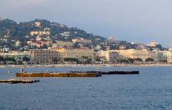 Cannes - vue panoramique de ville photographie stock