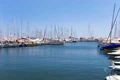 Cannes yachts. France, Cannes, yachts. Sunny day Stock Images