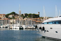 Cannes yachts harbour Royalty Free Stock Images