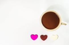 Cannette de fil et chocolat de café Images stock