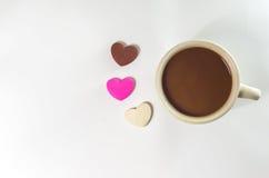 Cannette de fil et chocolat de café Photos stock