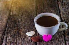 Cannette de fil et chocolat de café Image stock