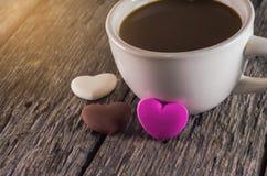 Cannette de fil et chocolat de café Image libre de droits