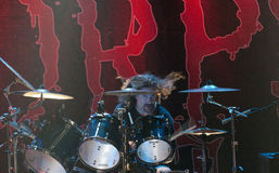 Cannibal Corpse on stage Stock Images