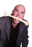 Cannibal man. Elegant cannibal men eat bone Stock Photo