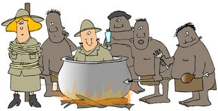Cannibals Stock Images