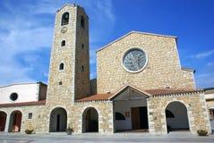 Cannigione教会  库存照片