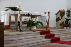 CANNIGIONE, SARDINIA/ITALY - 5月17日:圣Joh内部教会  库存图片