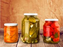 Canning. Jar food canned food vegetable storage compartment preserved Stock Image