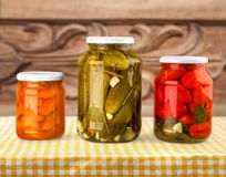 Canning. Jar food canned food vegetable storage compartment preserved Royalty Free Stock Images