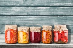 Canning. Jar Food Canned Food Vegetable Storage Compartment Preserved Royalty Free Stock Photography