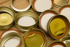 Canning lids Royalty Free Stock Photos