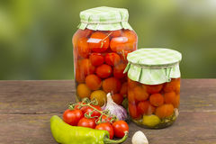 Canning tomatoes Royalty Free Stock Image