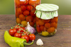 Canning tomatoes Royalty Free Stock Images