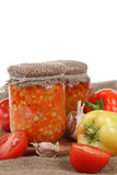 Canning vegetables Royalty Free Stock Photos