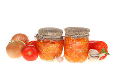Canning vegetables Stock Photography