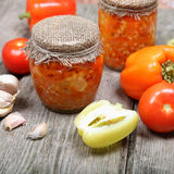Canning vegetables Stock Images