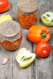 Canning vegetables Stock Photo