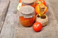 Canning vegetables Stock Image