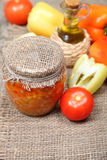 Canning vegetables in the banks Stock Photography
