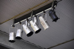 Cannister Stage Ceiling Lighting Fixtures Royalty Free Stock Image