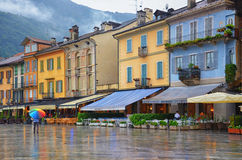 Cannobio-Italien stockfotos