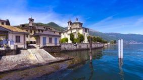 Cannobio - Lago Maggiore, Verbania, Piemont, Itália Imagens de Stock