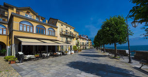 Cannobio - Lago Maggiore, Verbania, Piemont, Itália Imagem de Stock Royalty Free