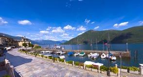Cannobio - Lago Maggiore, Verbania, Piemont, Italien Lizenzfreie Stockbilder