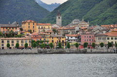 Cannobio lake shore town, Lake (lago) Maggiore, Italy. Royalty Free Stock Image