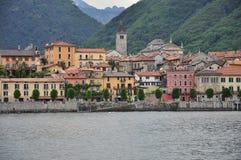 Cannobio lake shore town, Lake (lago) Maggiore, Italy. royalty free stock image