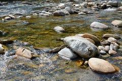 Cannobio rzeka Zdjęcia Stock