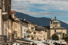 Cannobio town at Lake Maggiore, Piedmont Stock Photography