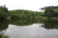 Cannock Chase. Large central lake Stock Image