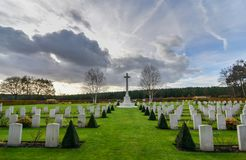 Cannock Chase War Cemetery. Cannock Chase War Cememtery which holds 379 recorded casualties from both world war one and two Royalty Free Stock Photos