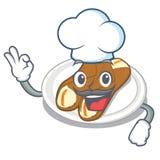 Cannoli шеф-повара в опарнике мультфильма a бесплатная иллюстрация
