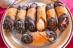 Cannoli assortment Stock Image