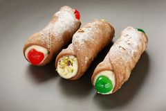 Cannoli , cannolo Stock Photos