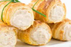 Cannoli cream with salted tuna Stock Images