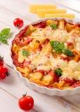 Cannoli de las pastas con queso Imagen de archivo