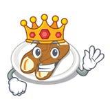 Cannoli de roi dans la forme de bande dessinée d'a illustration libre de droits