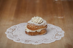 Cannoli Filled Donut Stock Images