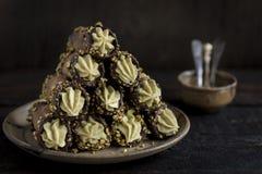 Cannoli italiano tradizionale del dessert Fotografia Stock