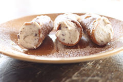 Cannoli , sicilian dessert Royalty Free Stock Images