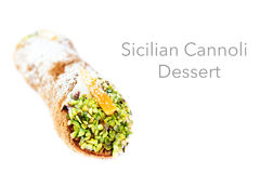 Cannoli Siciliani isolated on white - traditional dessert stuffe Royalty Free Stock Images