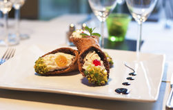 Cannoli sicilien Photographie stock