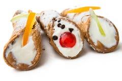 Cannoli sicilien, dessert italien Photos libres de droits