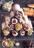 Cannoli tower Stock Images